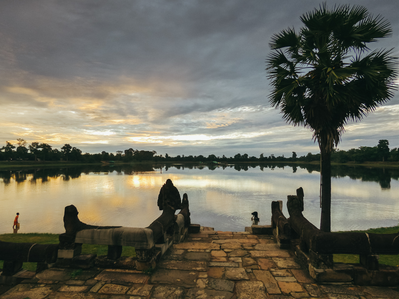 Sunrise at Angkor: a picturesque alternative
